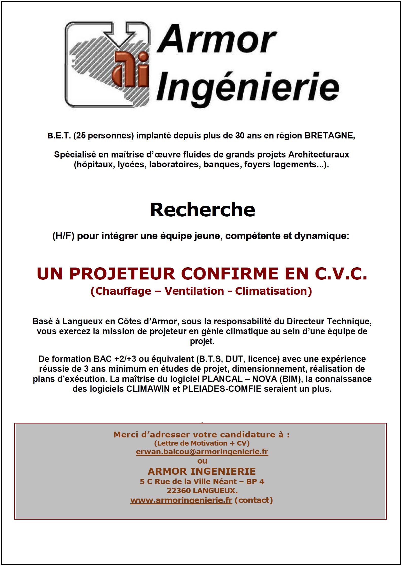 Projeteur(e) - dessinateur CVC
